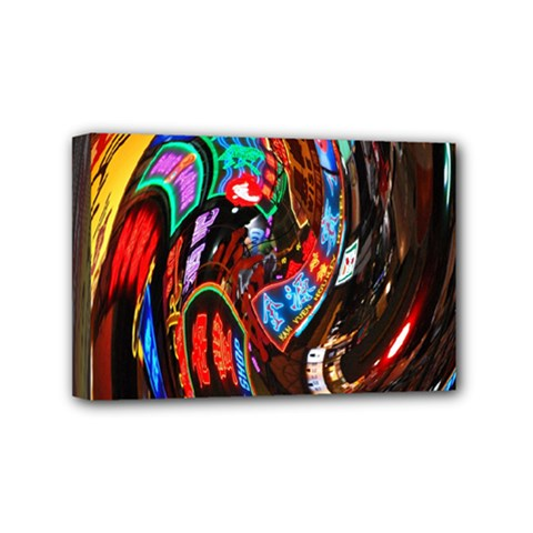 Abstract Chinese Inspired Background Mini Canvas 6  X 4  by Simbadda