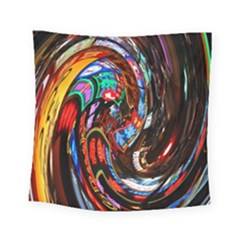 Abstract Chinese Inspired Background Square Tapestry (small) by Simbadda