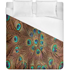 Peacock Pattern Background Duvet Cover (california King Size) by Simbadda