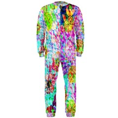 Bright Rainbow Background OnePiece Jumpsuit (Men)  by Simbadda