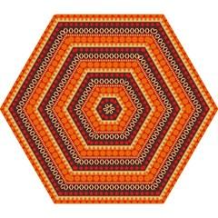 Abstract Lines Seamless Pattern Mini Folding Umbrellas by Simbadda