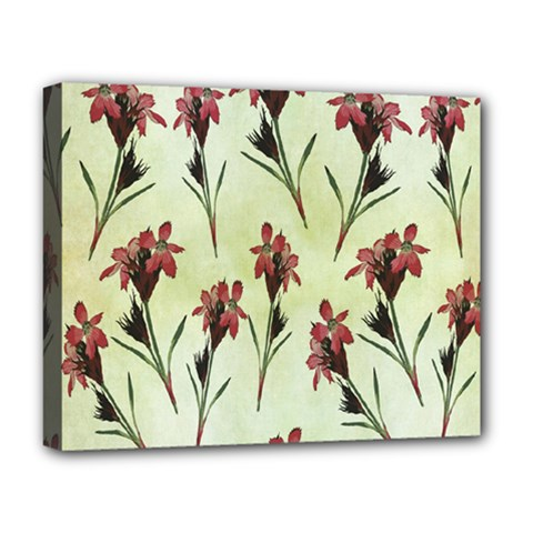 Vintage Style Seamless Floral Wallpaper Pattern Background Deluxe Canvas 20  X 16   by Simbadda