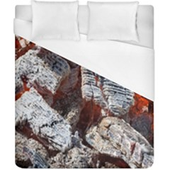 Wooden Hot Ashes Pattern Duvet Cover (california King Size) by Simbadda