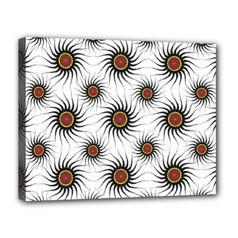 Pearly Pattern Half Tone Background Canvas 14  X 11  by Simbadda