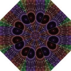 Digital Colored Ornament Computer Graphic Folding Umbrellas by Simbadda