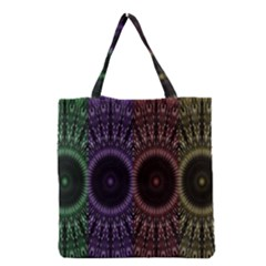 Digital Colored Ornament Computer Graphic Grocery Tote Bag by Simbadda