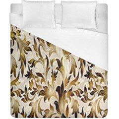 Floral Vintage Pattern Background Duvet Cover (California King Size)