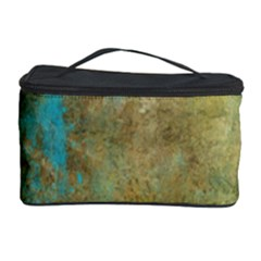 Aqua Textured Abstract Cosmetic Storage Case by theunrulyartist