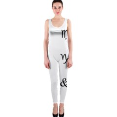 Set Of Black Web Dings On White Background Abstract Symbols Onepiece Catsuit by Amaryn4rt