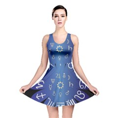 Astrology Birth Signs Chart Reversible Skater Dress by Amaryn4rt