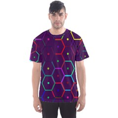 Color Bee Hive Pattern Men s Sport Mesh Tee by Amaryn4rt