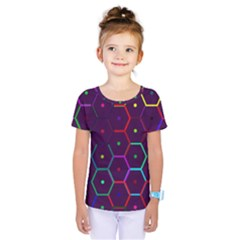 Color Bee Hive Pattern Kids  One Piece Tee by Amaryn4rt