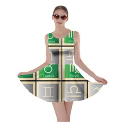 Set Of The Twelve Signs Of The Zodiac Astrology Birth Symbols Skater Dress by Amaryn4rt
