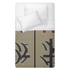 Xia Script On Gray Background Duvet Cover (single Size) by Amaryn4rt