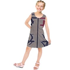 Xia Script On Gray Background Kids  Tunic Dress by Amaryn4rt