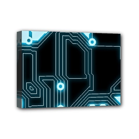 A Completely Seamless Background Design Circuitry Mini Canvas 7  X 5  by Amaryn4rt