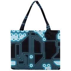 A Completely Seamless Background Design Circuitry Mini Tote Bag by Amaryn4rt