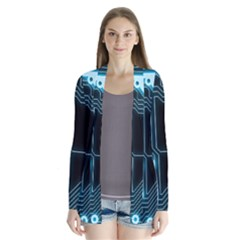 A Completely Seamless Background Design Circuitry Cardigans by Amaryn4rt