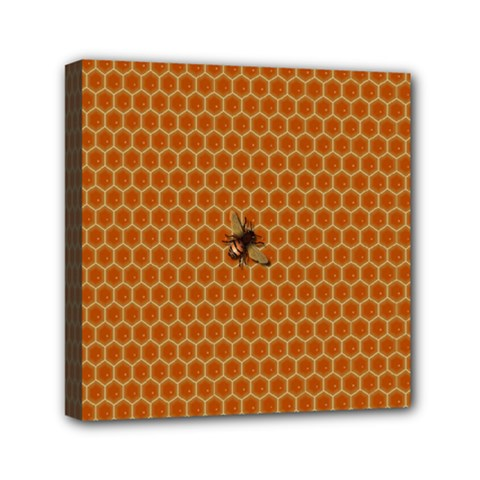 The Lonely Bee Mini Canvas 6  X 6  by Amaryn4rt