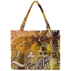 Symbols On Gradient Background Embossed Mini Tote Bag by Amaryn4rt