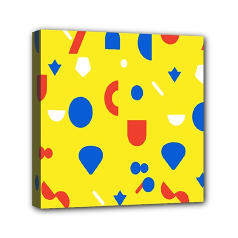 Circle Triangle Red Blue Yellow White Sign Mini Canvas 6  X 6  by Alisyart