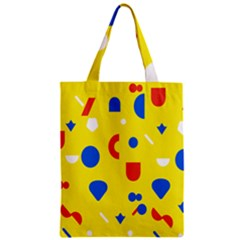 Circle Triangle Red Blue Yellow White Sign Zipper Classic Tote Bag by Alisyart