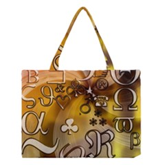 Symbols On Gradient Background Embossed Medium Tote Bag by Amaryn4rt