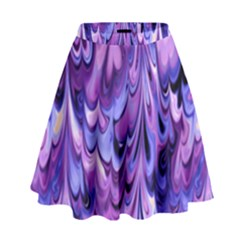 Purple Marble  High Waist Skirt by KirstenStar