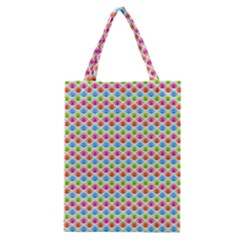 Colorful Floral Seamless Red Blue Green Pink Classic Tote Bag by Alisyart