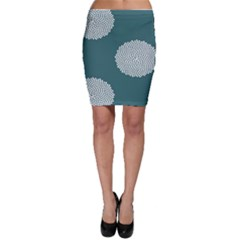 Green Circle Floral Flower Blue White Bodycon Skirt by Alisyart