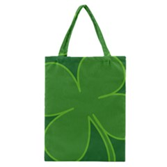 Leaf Clover Green Classic Tote Bag by Alisyart