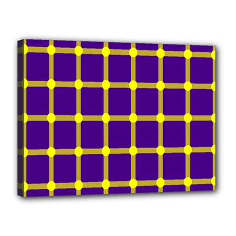 Optical Illusions Circle Line Yellow Blue Canvas 16  X 12  by Alisyart