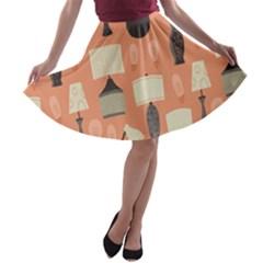 Lamps A Line Skater Skirt by Alisyart