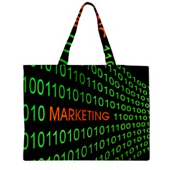 Marketing Runing Number Medium Zipper Tote Bag by Alisyart