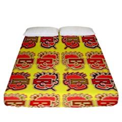 Funny Faces Fitted Sheet (king Size) by Amaryn4rt