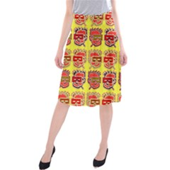 Funny Faces Midi Beach Skirt by Amaryn4rt