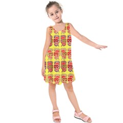 Funny Faces Kids  Sleeveless Dress by Amaryn4rt