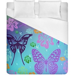 Butterfly Vector Background Duvet Cover (california King Size) by Amaryn4rt