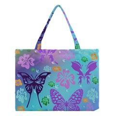 Butterfly Vector Background Medium Tote Bag by Amaryn4rt