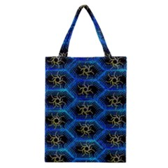 Blue Bee Hive Pattern Classic Tote Bag by Amaryn4rt