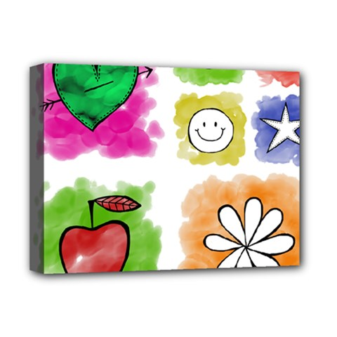 A Set Of Watercolour Icons Deluxe Canvas 16  X 12   by Amaryn4rt