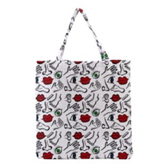 Body Parts Grocery Tote Bag by Valentinaart