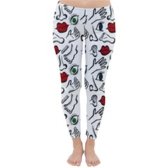 Body parts Classic Winter Leggings by Valentinaart