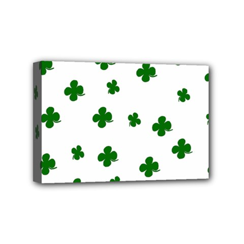 St  Patrick s Clover Pattern Mini Canvas 6  X 4  by Valentinaart