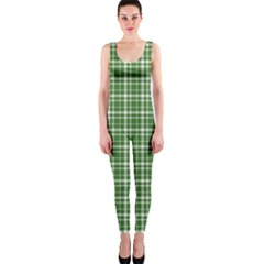 St  Patricks Day Plaid Pattern Onepiece Catsuit by Valentinaart
