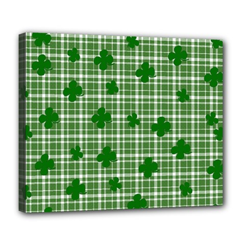 St  Patrick s Day Pattern Deluxe Canvas 24  X 20   by Valentinaart