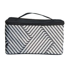 Lines And Stripes Patterns Cosmetic Storage Case by TastefulDesigns