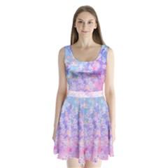 Watercolor Diamond Split Back Mini Dress  by Wanni