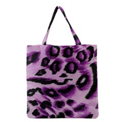 Background Fabric Animal Motifs Lilac Grocery Tote Bag by Amaryn4rt