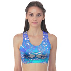 Background Fabric With Tiger Head Pattern Sports Bra by Amaryn4rt